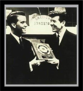framed Dick Clark Presenting Jimmy with his first Gold record, Just A Dream